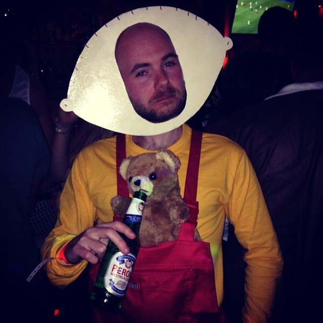 Me as Stewie Griffin from Family Guy - fancy dress