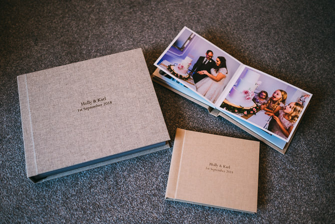 Fine art wedding album by Chris Andrews Photography