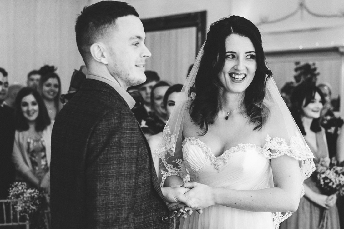 001 CANDID MOMENT DURING WEDDING CEREMONY AT PETERSTONE COURT BRECON WEDDING PHOTOGRAPHY