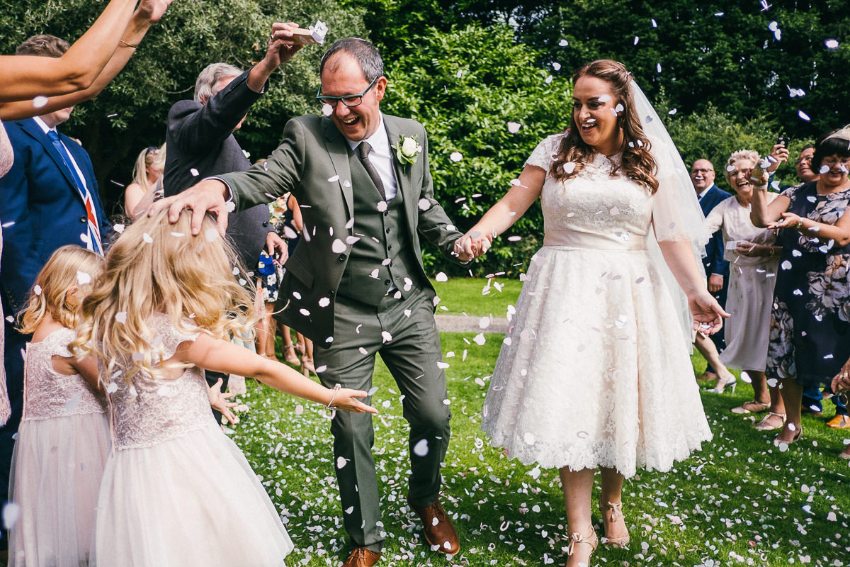 02 COLOURFUL CONFETTI SHOT AT MANOR PARC CARDIFF WEDDING