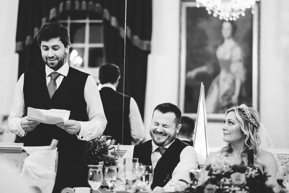 002 FUNNY BEST MAN SPEECH THE BEAR HOTEL COWBRIDGE WEDDING PHOTOGRAPHER