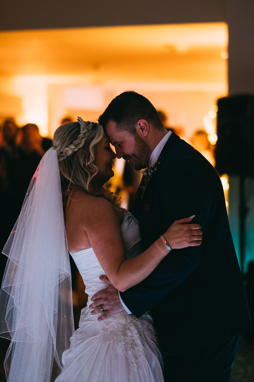 003 ROMANTIC FIRST DANCE PHOTO BRIDE AND GROOM THE BEAR HOTEL WEDDING PHOTOGRAPHY COWBRIDGE