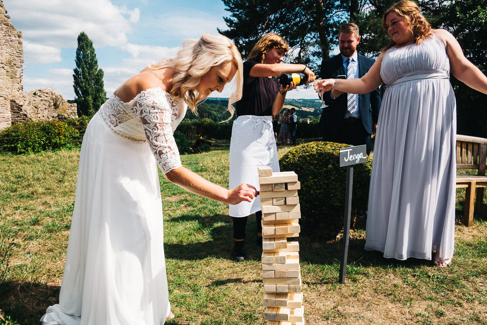 FUN USK CASTLE WEDDING PHOTOGRAPHY WALES 041