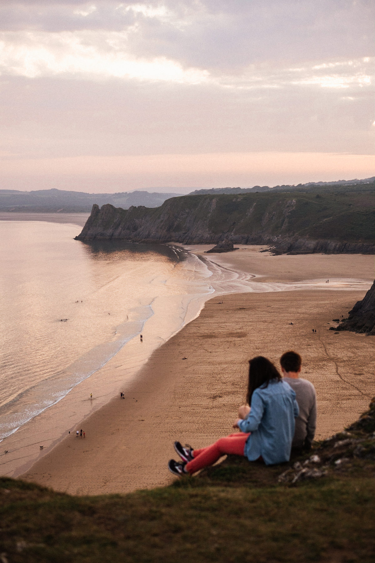 004 SUNSET ENGAGEMENT SHOOT THREE CLIFFS BAY GOWER SWANSEA PHOTOGRAPHY