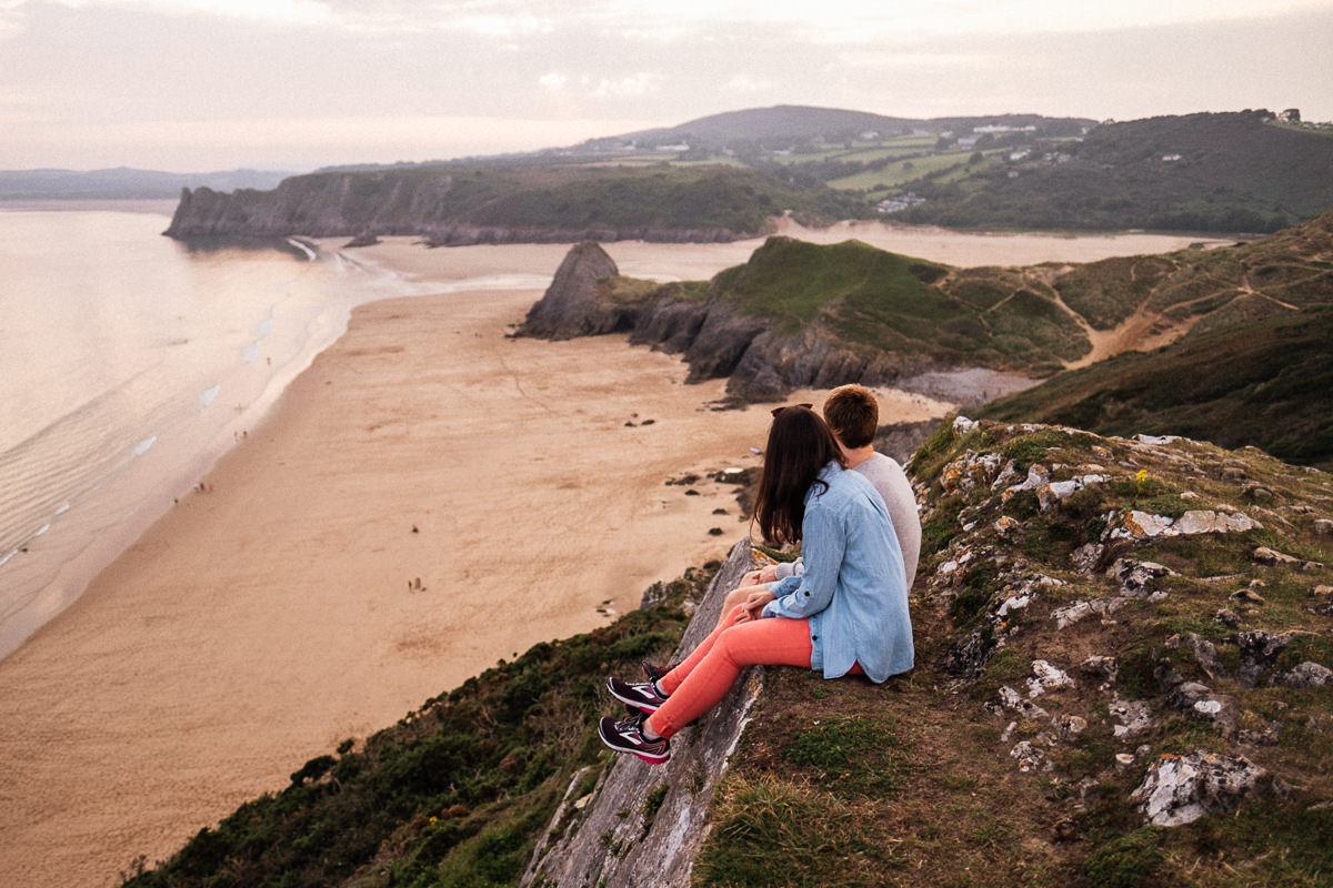 005 SUNSET ENGAGEMENT SHOOT THREE CLIFFS BAY GOWER SWANSEA PHOTOGRAPHY
